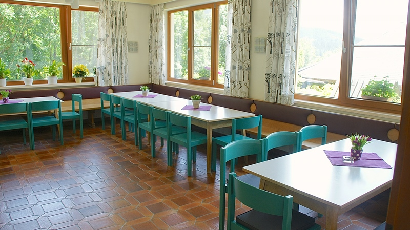 Pensione Berghof sala da pranzo