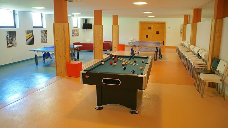 Pensione Berghof sala di giocchi